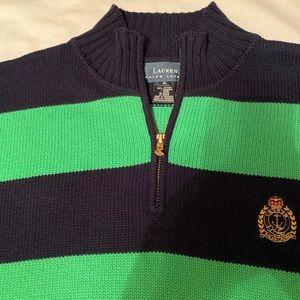3/4 zip Ralph Lauren sweater